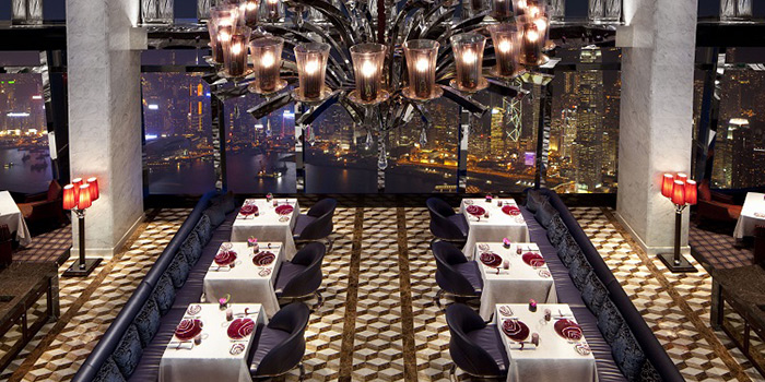 Dining Area of Tosca, Tsim Sha Tsui, Hong Kong