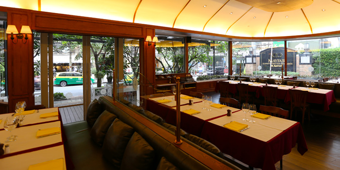 Dining Area from Le Boeuf at Marriott Mayfair Hotel in Langsuan, Bangkok