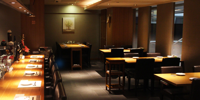 Interior from Hanashizuku Japanese Cuisine at Cuppage Plaza in Orchard, Singapore