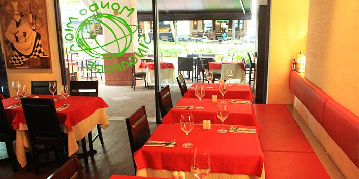 Entrance of Mondo Mio Italian Restaurant & Bar in Robertson Quay, Singapore