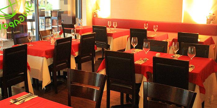 Interior of Mondo Mio Italian Restaurant & Bar in Robertson Quay, Singapore