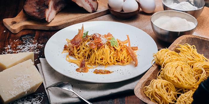 Roman Style Carbonara Spaghetti, hmv Bar & Restaurant, Causeway Bay, Hong Kong