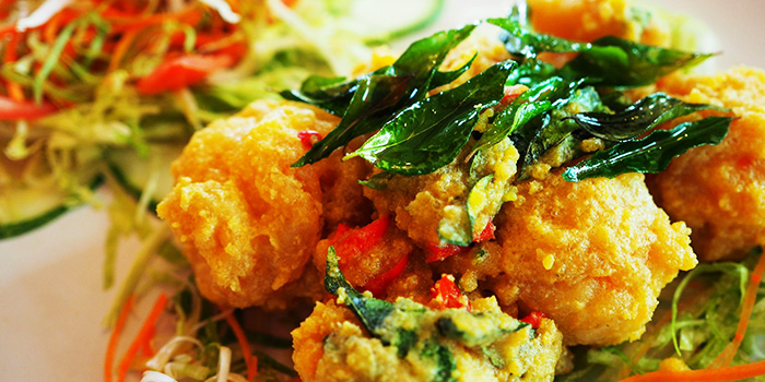 Salted Egg Chicken Balls from Crab Party in Yio Chu Kang, Singapore