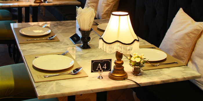 Table Set from Audrey Cafe Glamour at Central Embassy, Bangkok