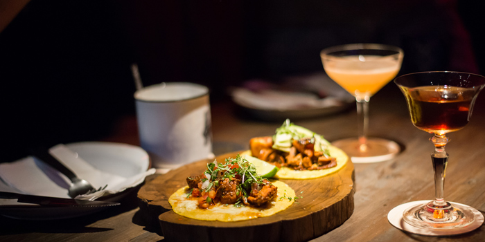 Taco and Drink from Touché Hombre in Thonglor, Bangkok