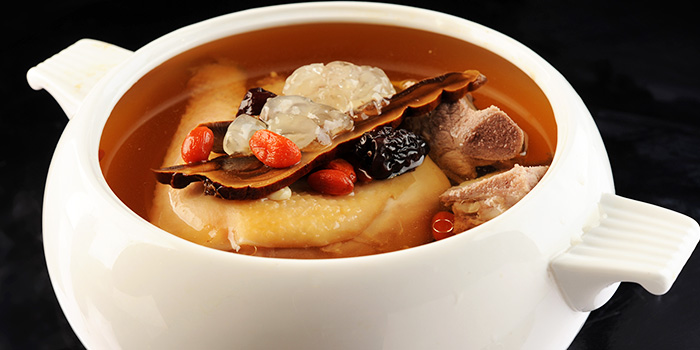Double Boiled Snow Lotus Seeds Soup with Ling Zhi from TungLok Signatures (The Central) in Clarke Quay, Singapore