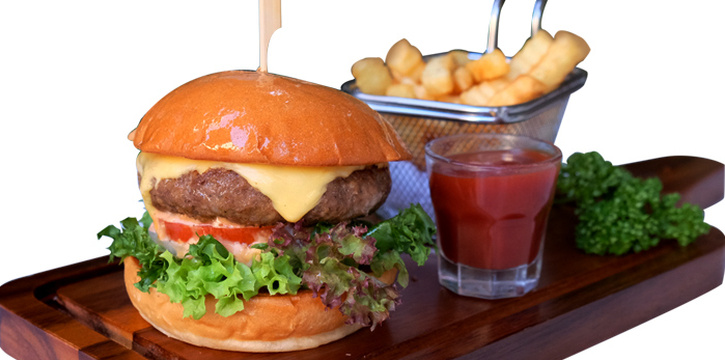 Cheese Burger from Audrey Cafe & Bistro in Thonglor Soi 11, Bangkok