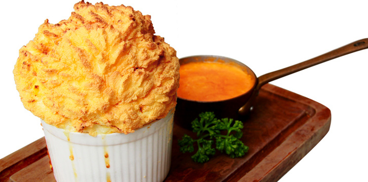Crab Souffle served with Lobster Brandy Sauce from Audrey Cafe & Bistro in Thonglor Soi 11, Bangkok