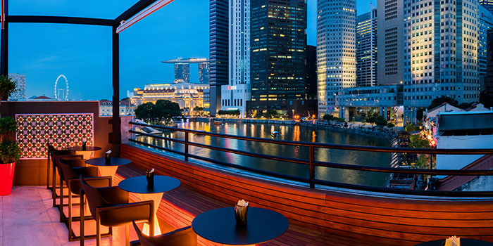 Rooftop Bar of Braci in Boat Quay, Singapore
