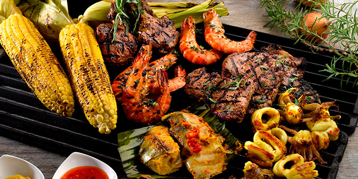 Premium Meats & Seafood from Cocobolo Poolside Bar + Grill at Park Hotel Clarke Quay in Robertson Quay, Singapore