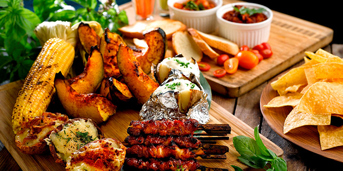 BBQ Sides & Appetisers from Cocobolo Poolside Bar + Grill at Park Hotel Clarke Quay in Robertson Quay, Singapore
