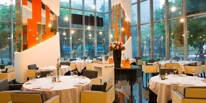 Dining Area from Savelberg on Wireless Road, Bangkok