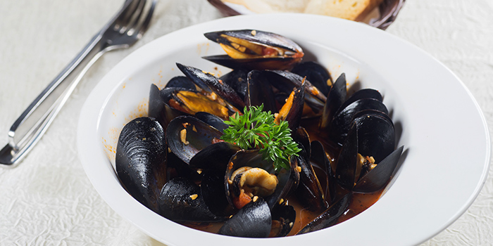 Chili Mussels from Georges Beach Club in East Coast, Singapore