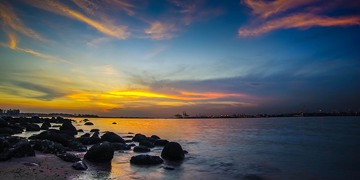 Sunset View from Georges By The Bay in Punggol, Singapore