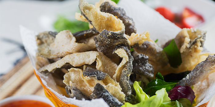 Fried Fish Skin from Georges @ The Cove in Pasir Ris, Singapore