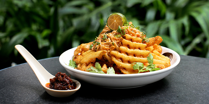 Chilli Crab Fries from Loof Rooftop Bar in Odeon Towers along North Bridge Road Singapore