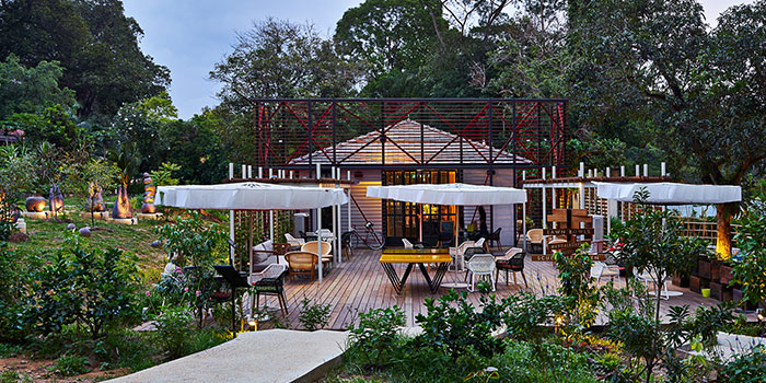 Outdoor Deck of Open Farm Community in Dempsey, Singapore