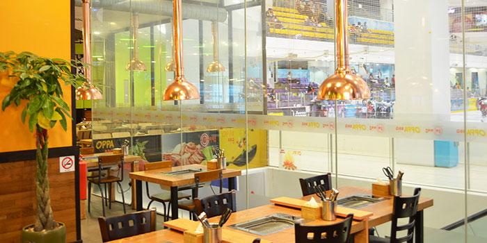 Interior of OPPA Korean BBQ Buffet (Jurong East-JCube) in Jurong, Singapore