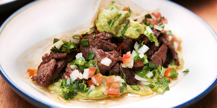 Steak Taco from Sarnies Cafe at Telok Ayer in Raffles Place, Singapore