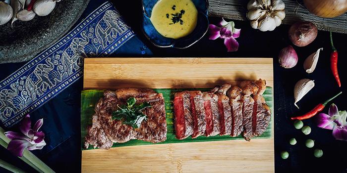 Pan Seared Black Angus Beef Ribeye from Sawadee Thai Cuisine in Bugis, Singapore