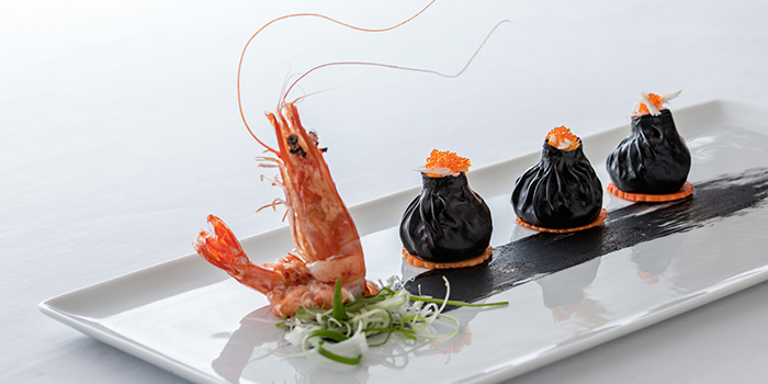 Squid Ink Dumpling from Summer Palace serving Chinese cuisine in Regent Singapore in Tanglin, Singapore