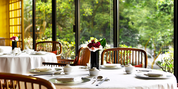 Table Setting of Summer Palace serving Chinese cuisine in Regent Singapore in Tanglin, Singapore