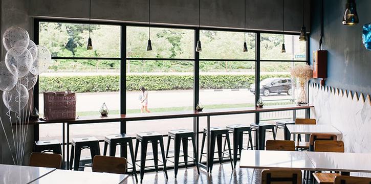 Interior of Atlas Coffeehouse in Bukit Timah, Singapore