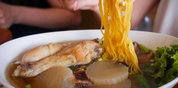 Chicken and Egg Noodle Soup from The Wok on Patong Road, Phuket