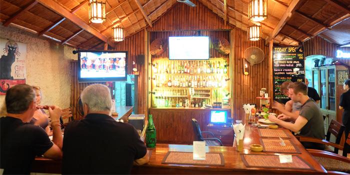 Bar Zone of Black Cat Bar & Restaurant in Thalang Phuket, Thailand