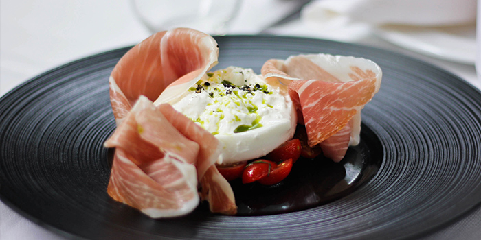 Burrata from Limoncello in Robertson Quay, Singapore