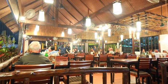 Dinning Area of Black Cat Bar & Restaurant in Thalang Phuket, Thailand