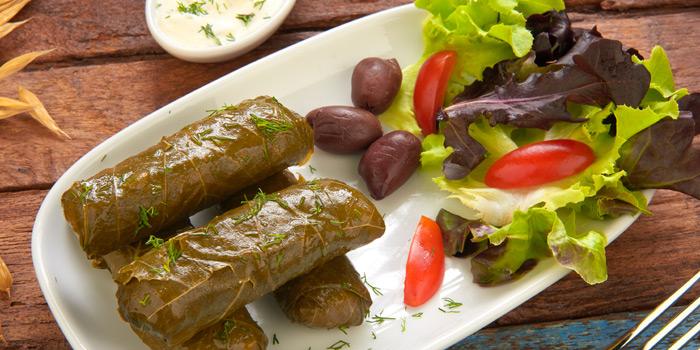 Dolmadakia from AVRA Authentic Greek Restaurant in Sukhumvit Soi 33, Bangkok