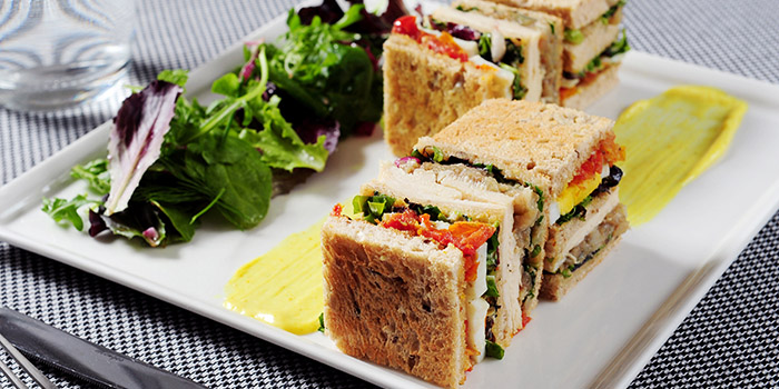 FAUCHON club sandwich, Fauchon Paris Le Café, Sha Tin, Hong Kong
