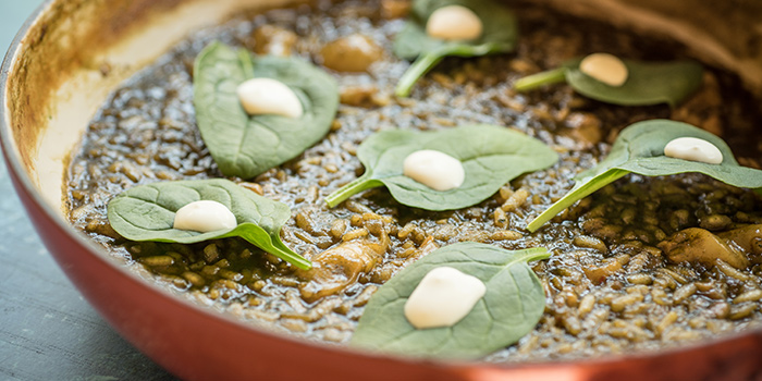 Cod Fish & Spinach Caldoso Rice from FOC Sentosa in Sentosa, Singapore