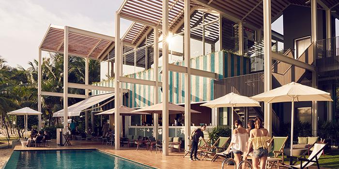 Pool Deck in FOC Sentosa Restaurant in Sentosa, Singapore