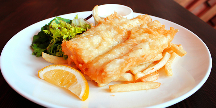 Fish and Chips from Flame Cafe in Paya Lebar, Singapore