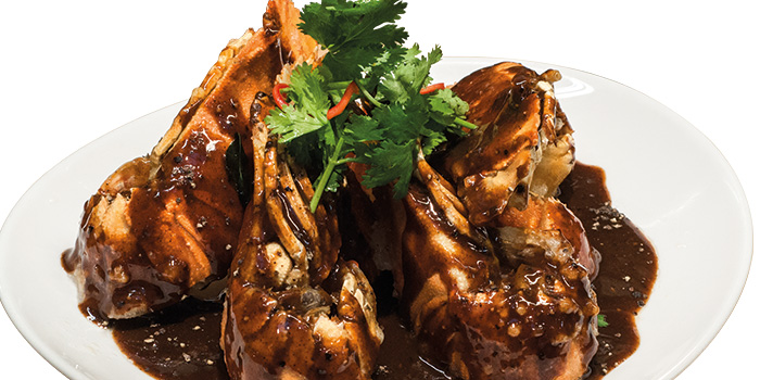Black Pepper Lobster from Fremantle Seafood Market in Clarke Quay, Singapore