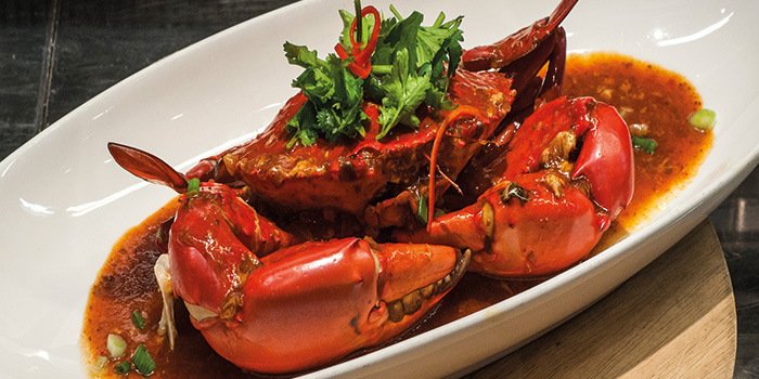 Singapore Chilli Crab from Fremantle Seafood Market in Clarke Quay, Singapore