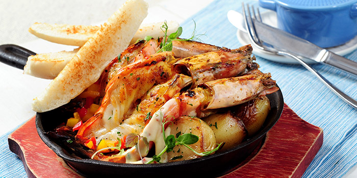 Gambas in the Pan, The Boathouse, Stanley, Hong Kong
