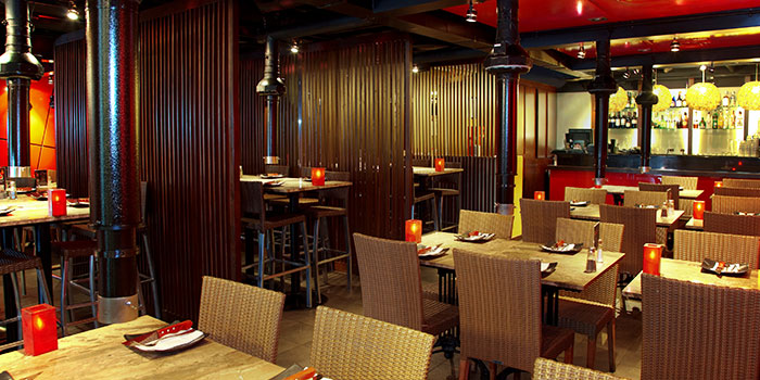 Interior of Hot Stones Steak and Seafood in Clarke Quay, Singapore