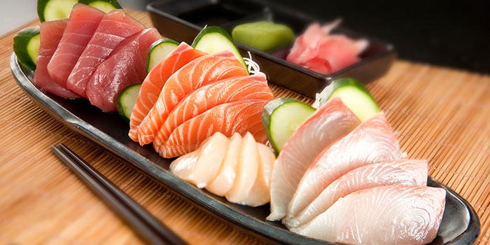 Sashimi from Hot Stones Steak and Seafood in Clarke Quay, Singapore