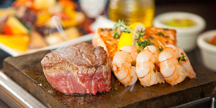 Surf & Turf from Hot Stones Steak and Seafood in Clarke Quay, Singapore