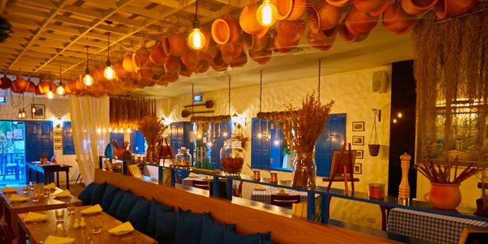 Interior of AVRA Authentic Greek Restaurant in Sukhumvit Soi 33, Bangkok