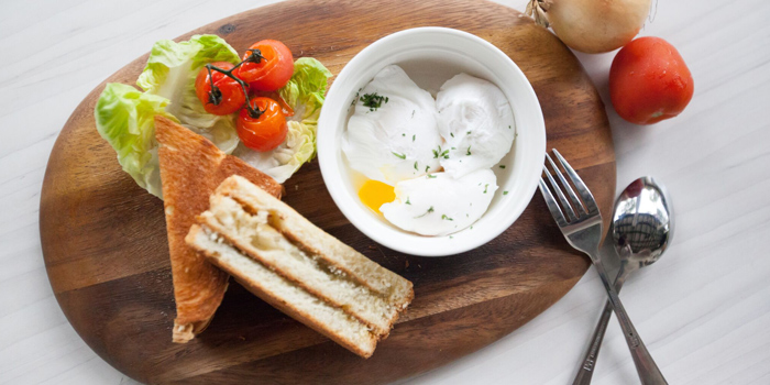 Kaya Brioche with Soft Boiled Eggs from Little House of Dreams in Dempsey, Singapore