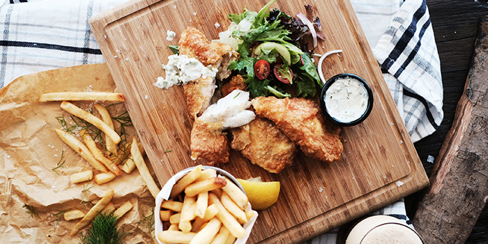 Fish & Chips from Little Island Brewing Co. in Changi, Singapore