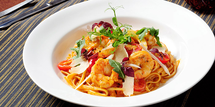 Linguine with Tiger Prawns, Pickled Pelican, Stanley, Hong Kong