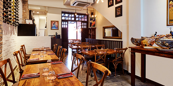 Main Dining Area of My Little Tapas Bar in Chinatown, Singapore