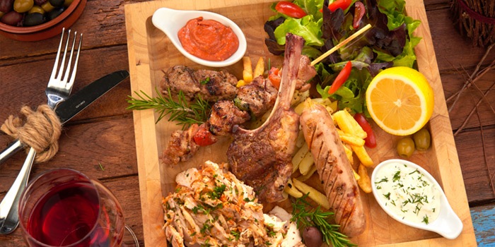 Mix Grill from AVRA Authentic Greek Restaurant in Sukhumvit Soi 33, Bangkok
