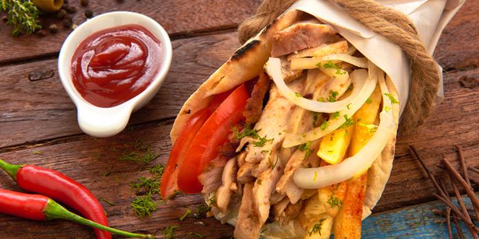 Pita Gyros Kotopoulo from AVRA Authentic Greek Restaurant in Sukhumvit Soi 33, Bangkok