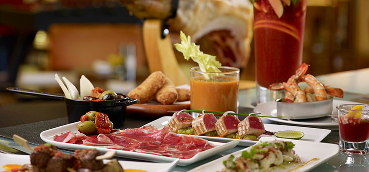 Tapas from Post Bar in The Fullerton Hotel, Singapore